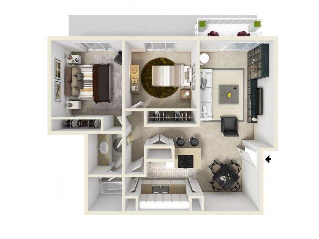 2X1 floor plan in Pico Rivera, CA l Cirsica