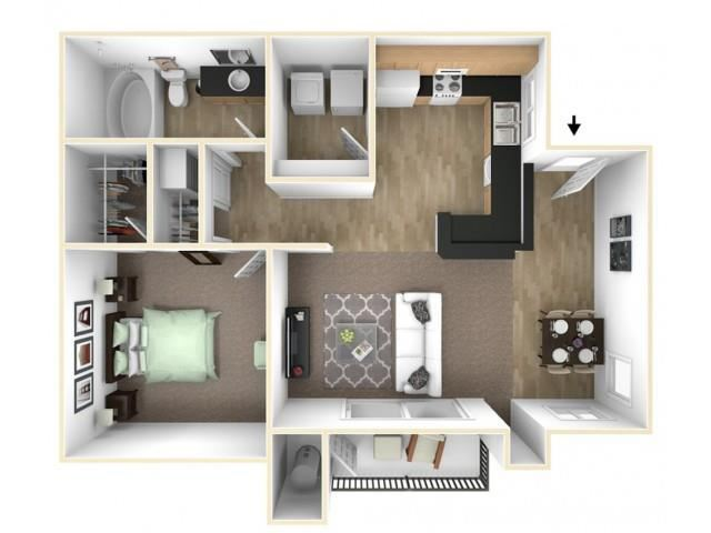 The Acorn floor plan l The Preserve at Creekside Apartments in Roseville CA