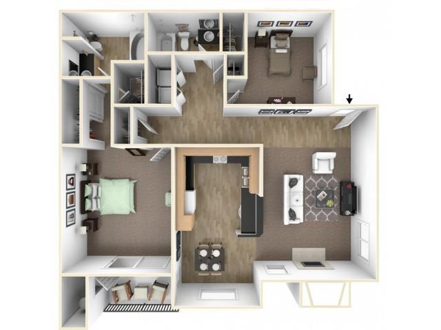 The Brook floor plan