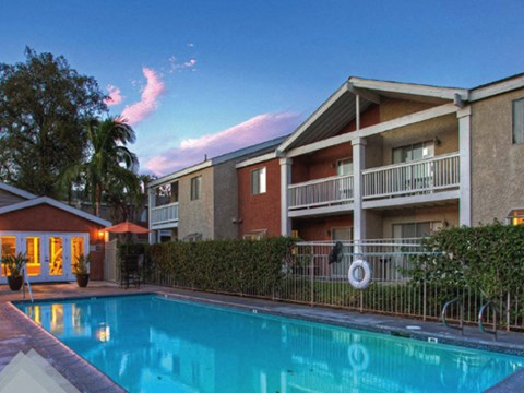 Pool l Rancho Vista Apartments for rent in Ontario, CA