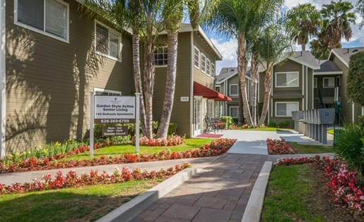 Hacienda Heights CA Senior Apartments for Rent - Sagewood Apartments Front Entry