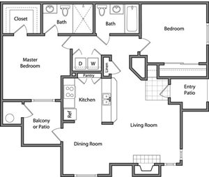 the The Cascade floor plan.