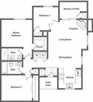 the The Meridian floor plan.