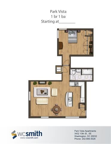 710-Square-Foot-One-Bedroom-Apartment-Floorplan-Available-For-Rent-Park-Vista-Apartments