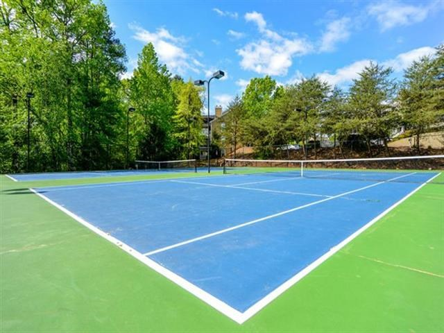 Lighted Tennis Court at Thornblade Park, Greer, South Carolina