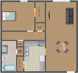 Crosswinds 1 bed 1 bath level 1