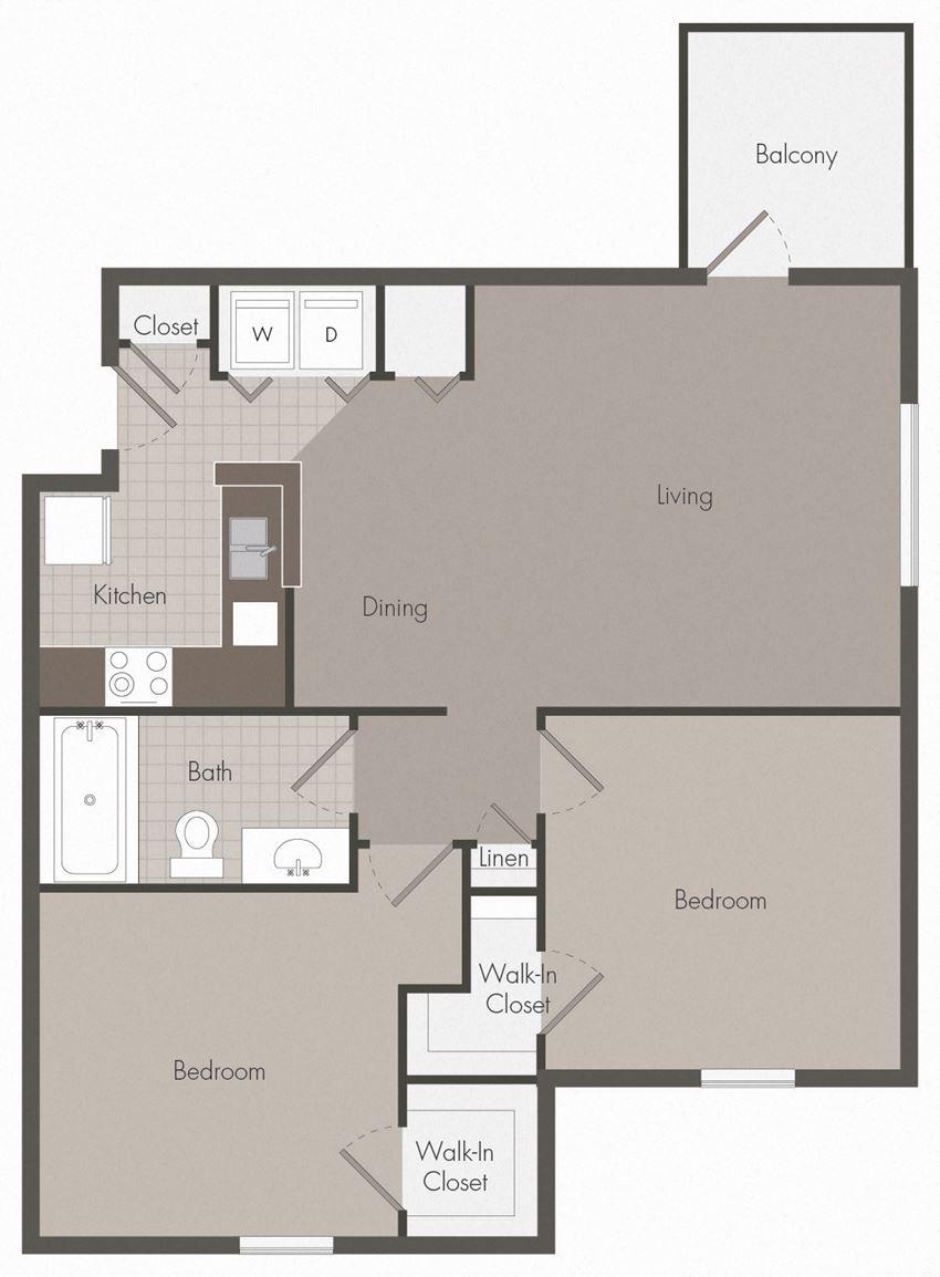 2 Bedroom | 1 Bath | 861 SF