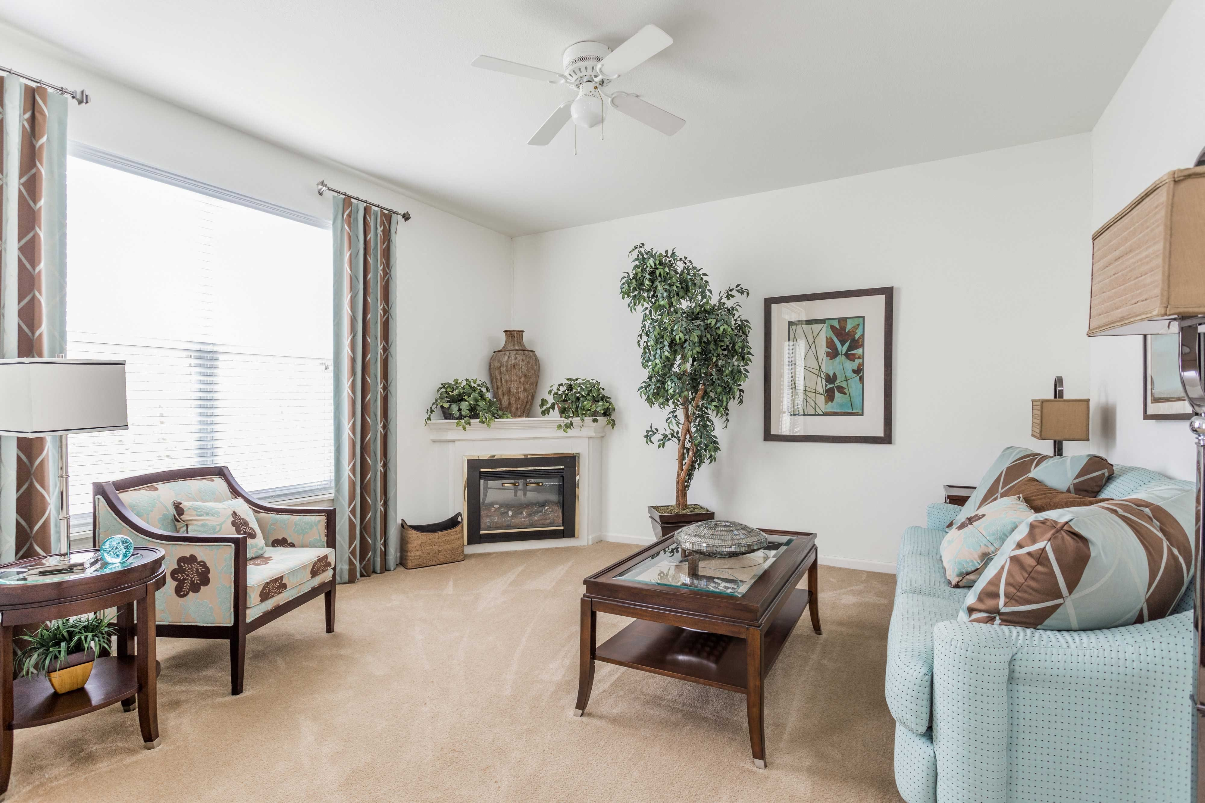 Large Open Living Space - Riverchase Apartments