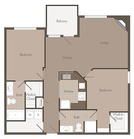 2 Bedroom | 2 Bath | 995 SF
