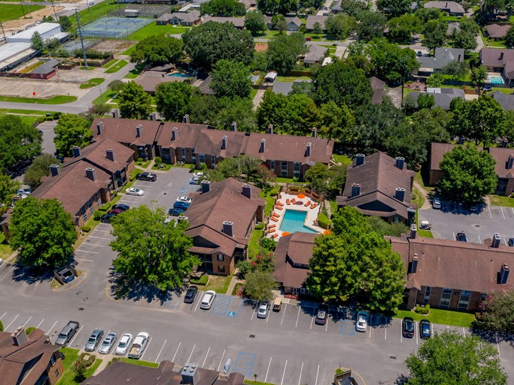 Emberwood Apartments Lafayette, LA Aerial Shot