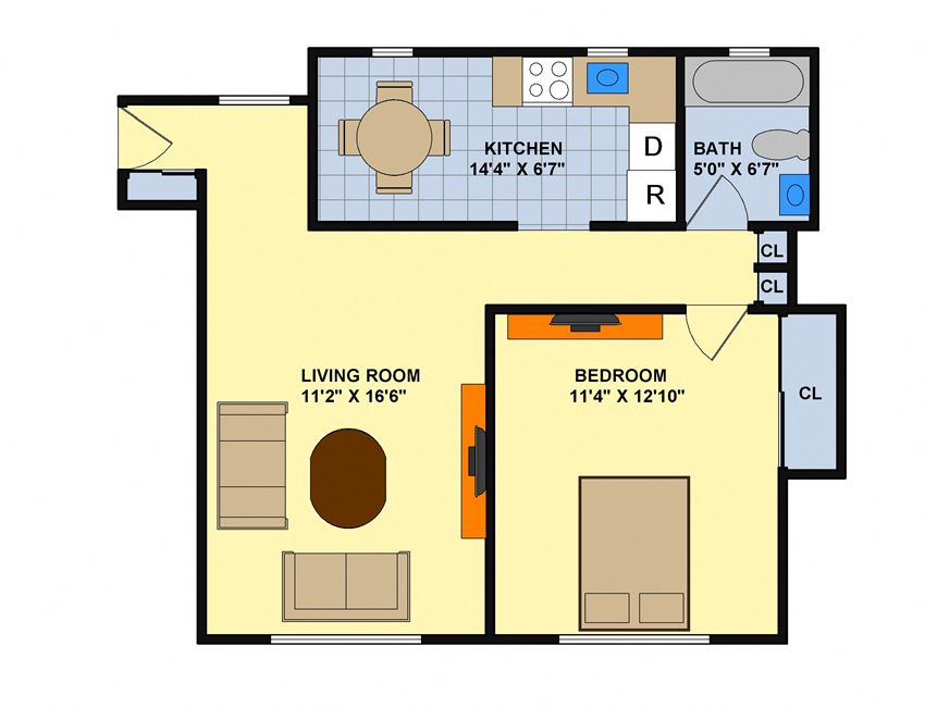 One Bedroom (Downstairs)