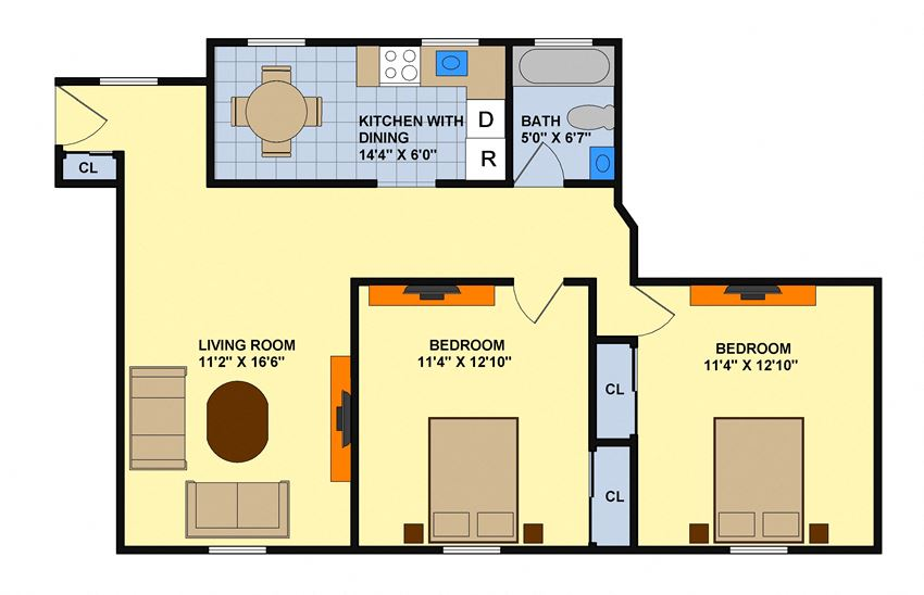 Two Bedroom (Downstairs)