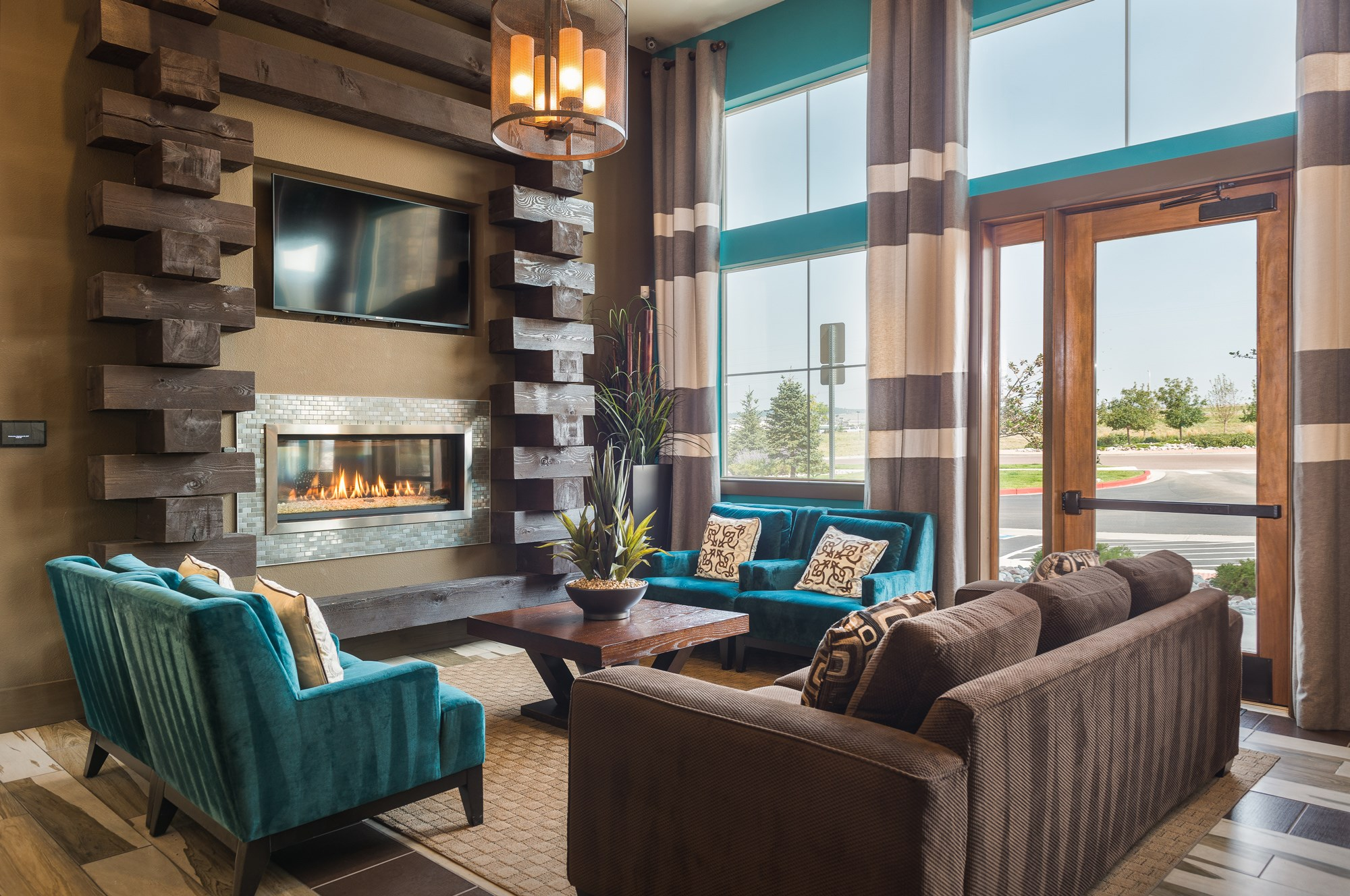 Clubhouse at Estate at Woodmen Ridge Apartments in Colorado Springs, CO