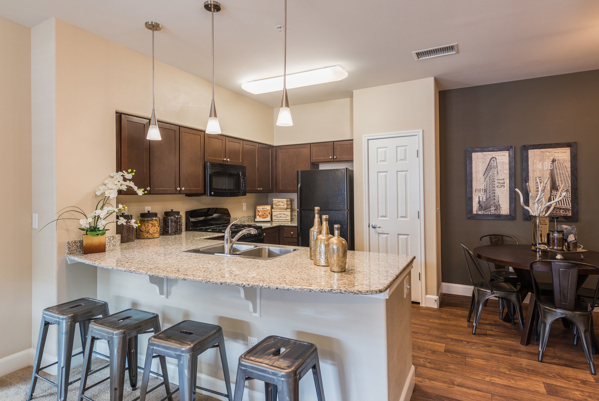 Kitchen at Estate at Woodmen Ridge Apartments in Colorado Springs, CO