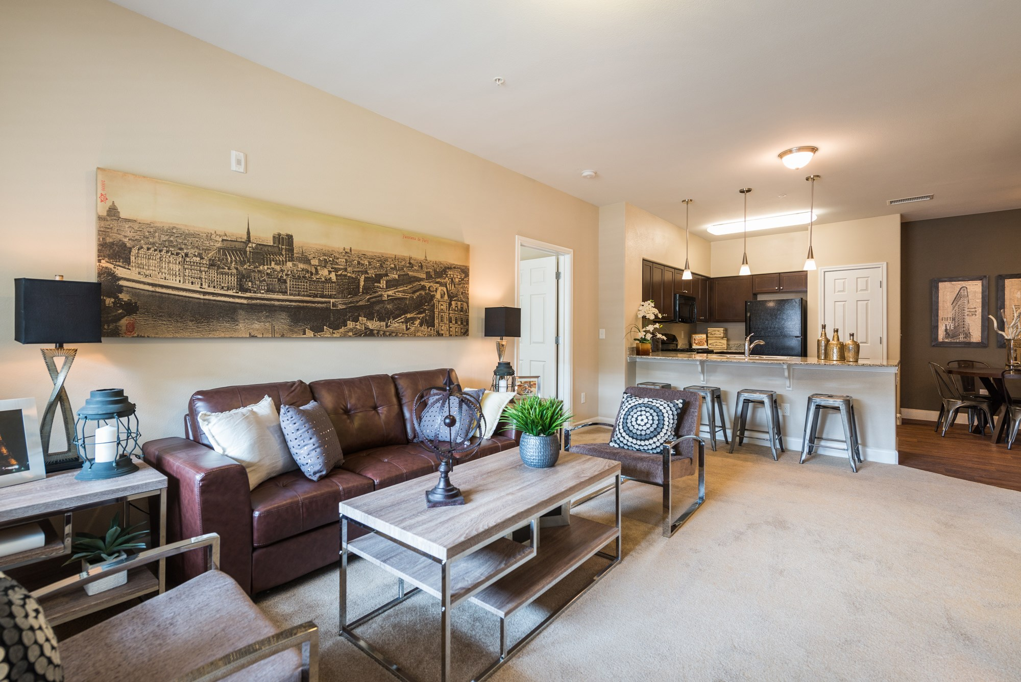 Open Living Room at Estate at Woodmen Ridge Apartments in Colorado Springs, CO