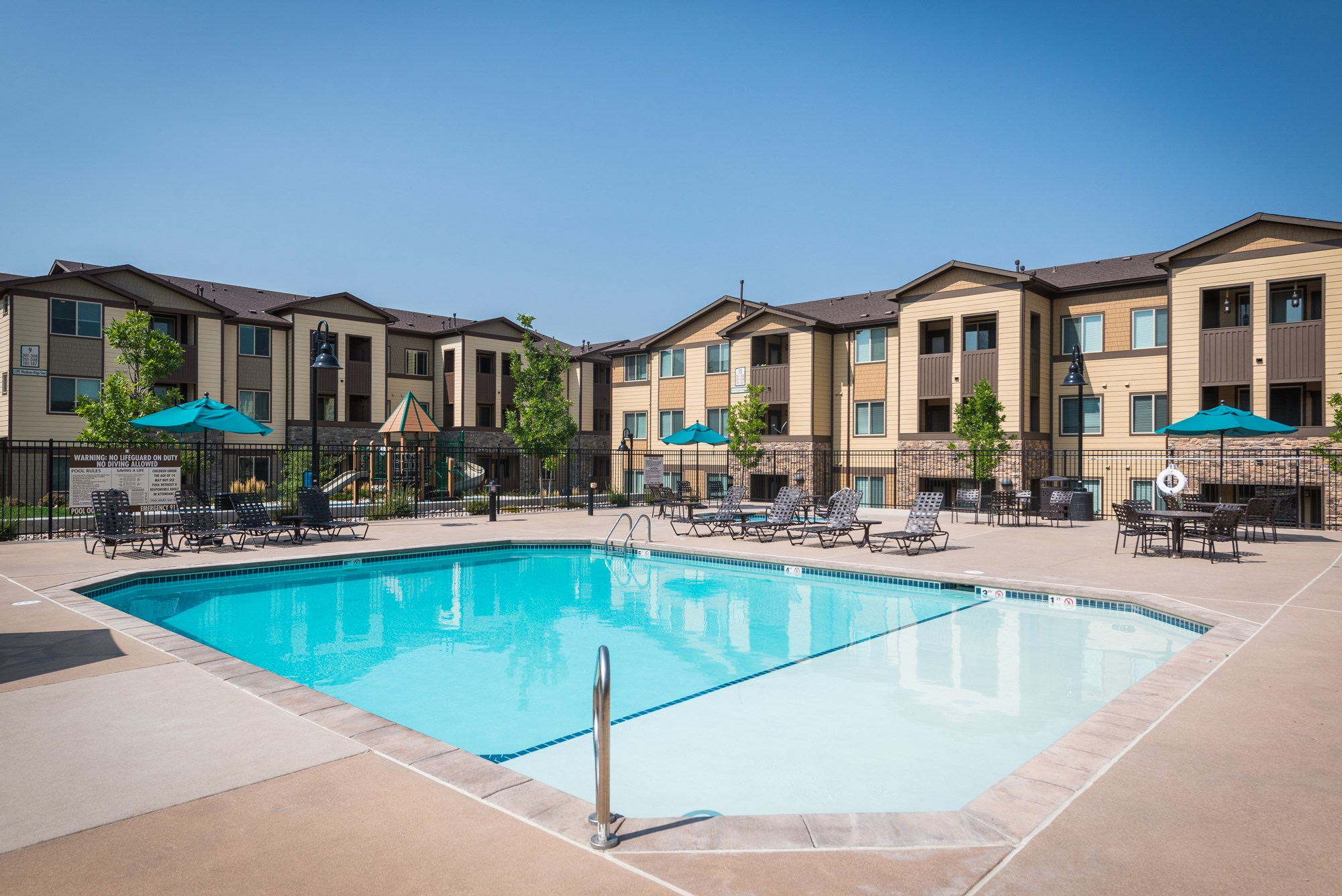Swimming Pool at Estate at Woodmen Ridge Apartments in Colorado Springs, CO