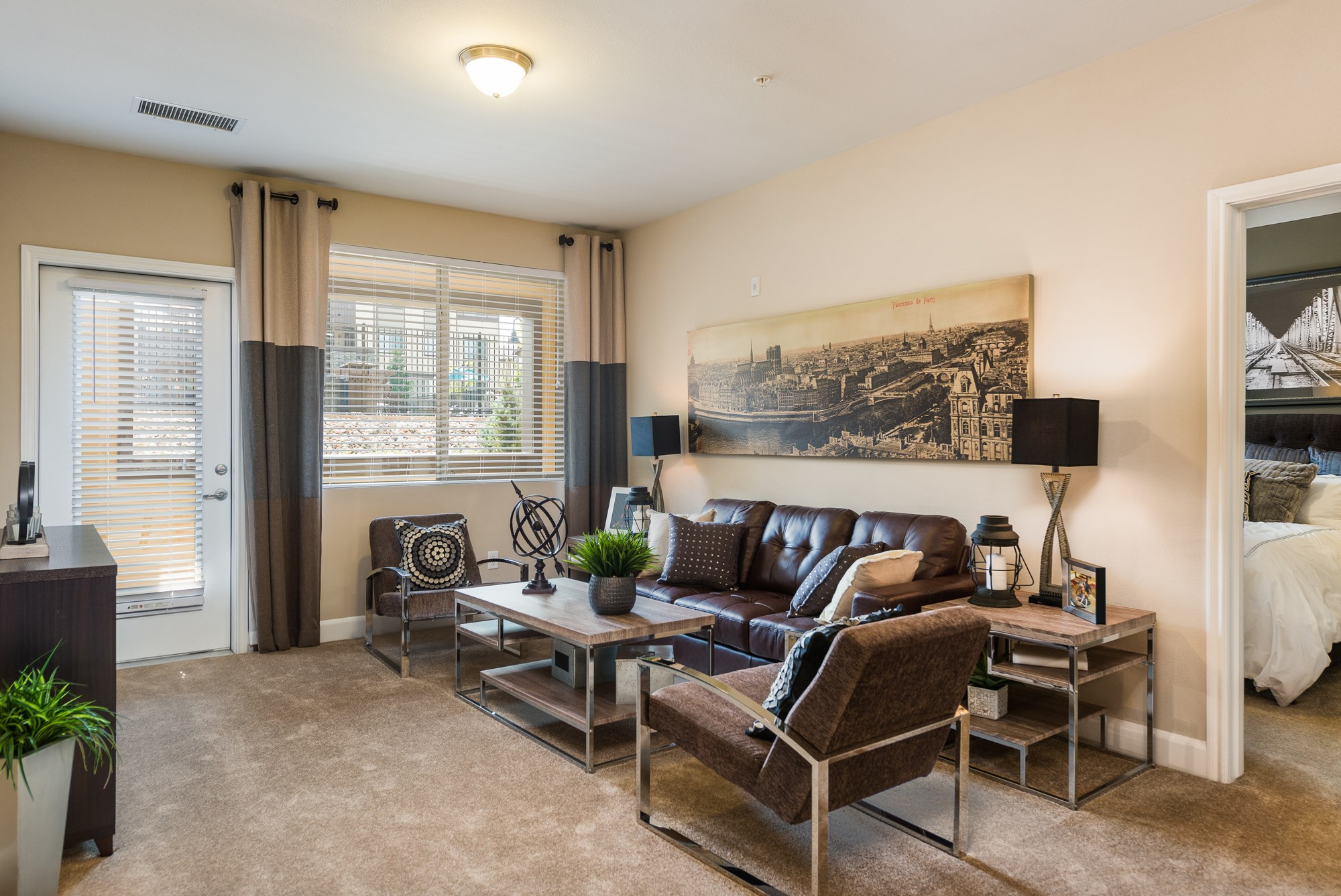Living Room at Estate at Woodmen Ridge Apartments in Colorado Springs, CO