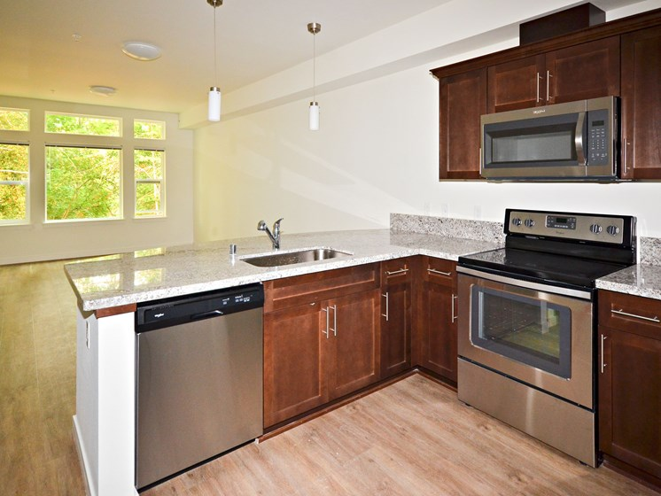 Granite Style Countertops at Emerald Crest, Bothell, WA