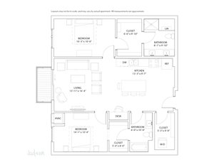 The Loden Edina Two Bedroom / Two Bathroom Apartment