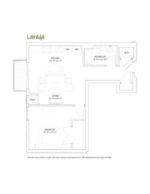 The Loden Edina One Bedroom / One Bathroom Apartment
