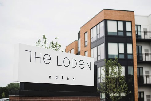 The Loden Apartments Exterior Front Sign