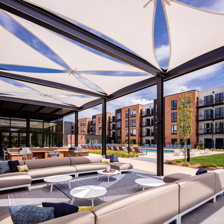 The Loden Apartments Lifestyle - Decorative Pergolas & Outdoor Seating