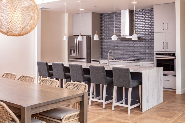 The Loden Apartments Lifestyle - Clubhouse Demonstration Kitchen