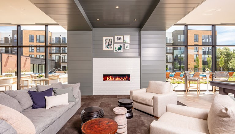 The Loden Apartments Lifestyle - Clubhouse Lounge Area