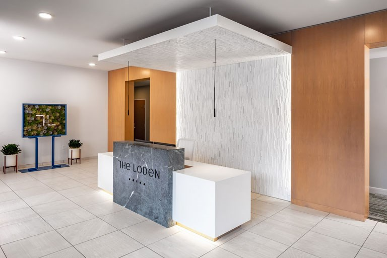 The Loden Apartments Reception Desk & Lobby