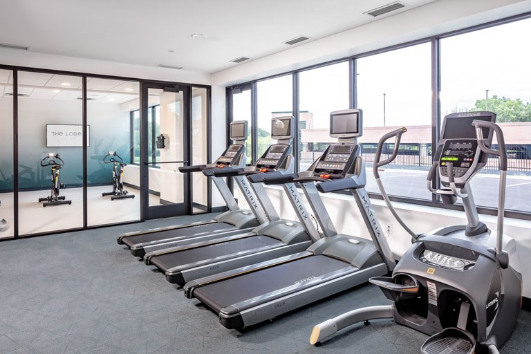 Fitness Center Cardio Equipment - The Loden Apartments Lifestyle