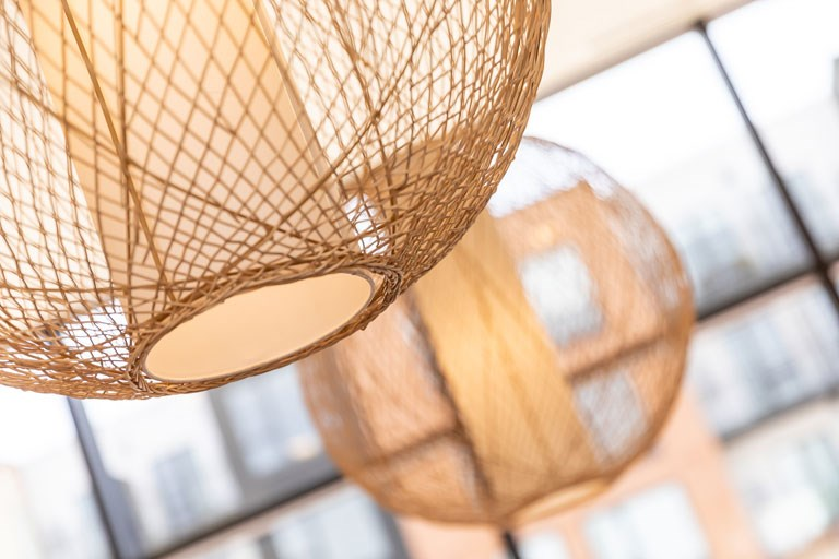 The Loden Apartments Lifestyle - Decorative Woven Light Fixtures