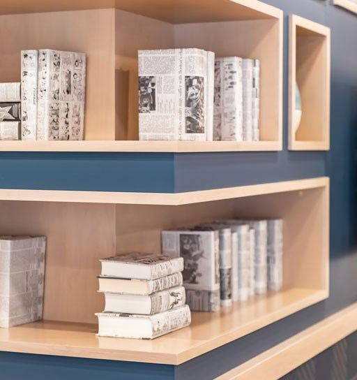 The Loden Apartments Community Bookshelves