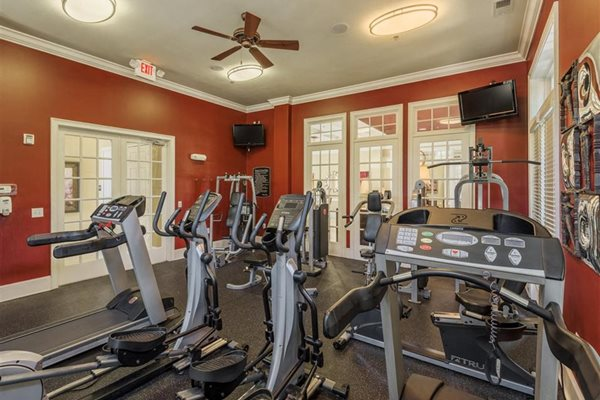 Fitness center at Rose Heights  Apartments, Raliegh, NC