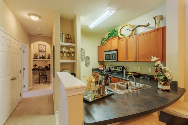 Elegant kitchen at Rose Heights  apartments, Raleigh, NC