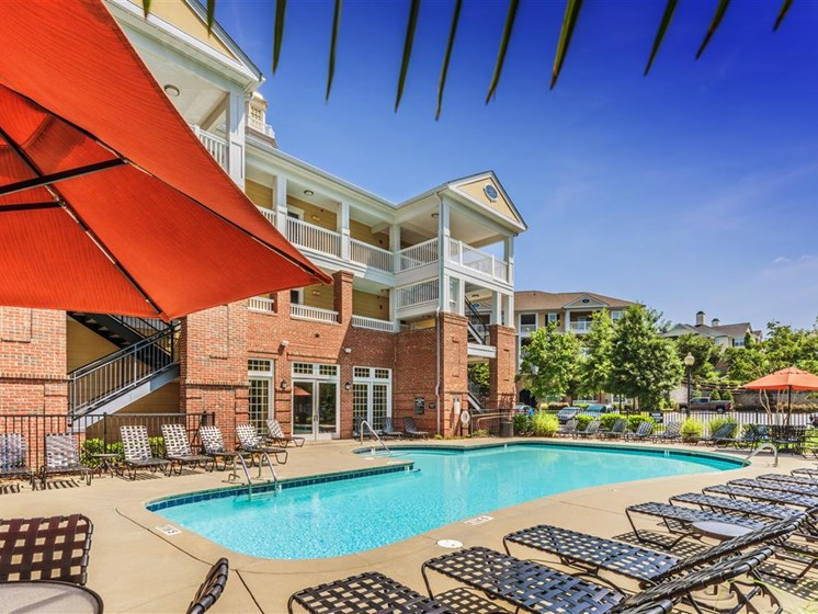 Sparkling pool at Rose Heights apartments, 3801 Glen Verde Trail, Raleigh