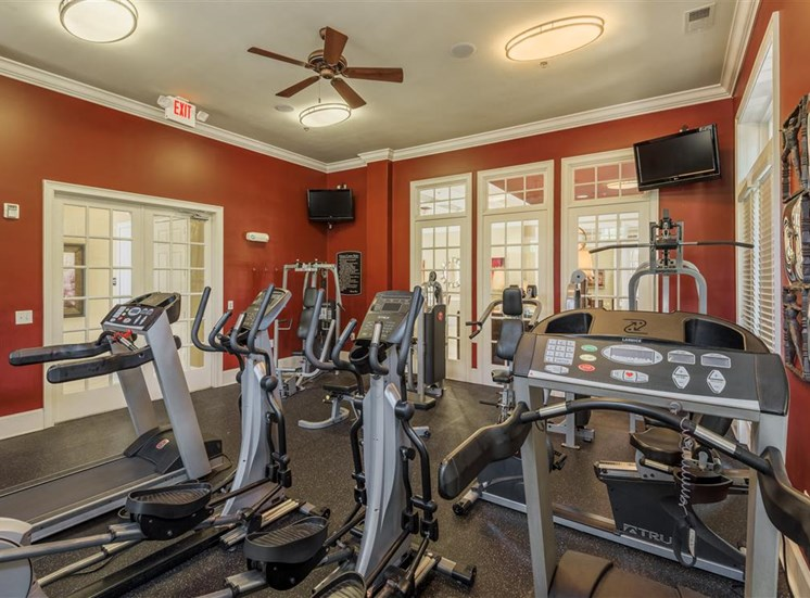 FItness center at Rose Heights apartments, 3801 Glen Verde Trail, Raleigh
