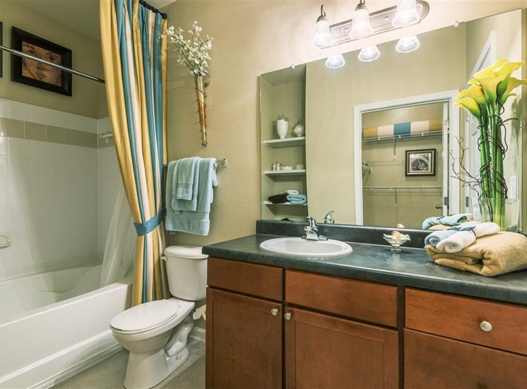 Luxury bathrooms at Rose Heights apartments, North Carolina, 27613
