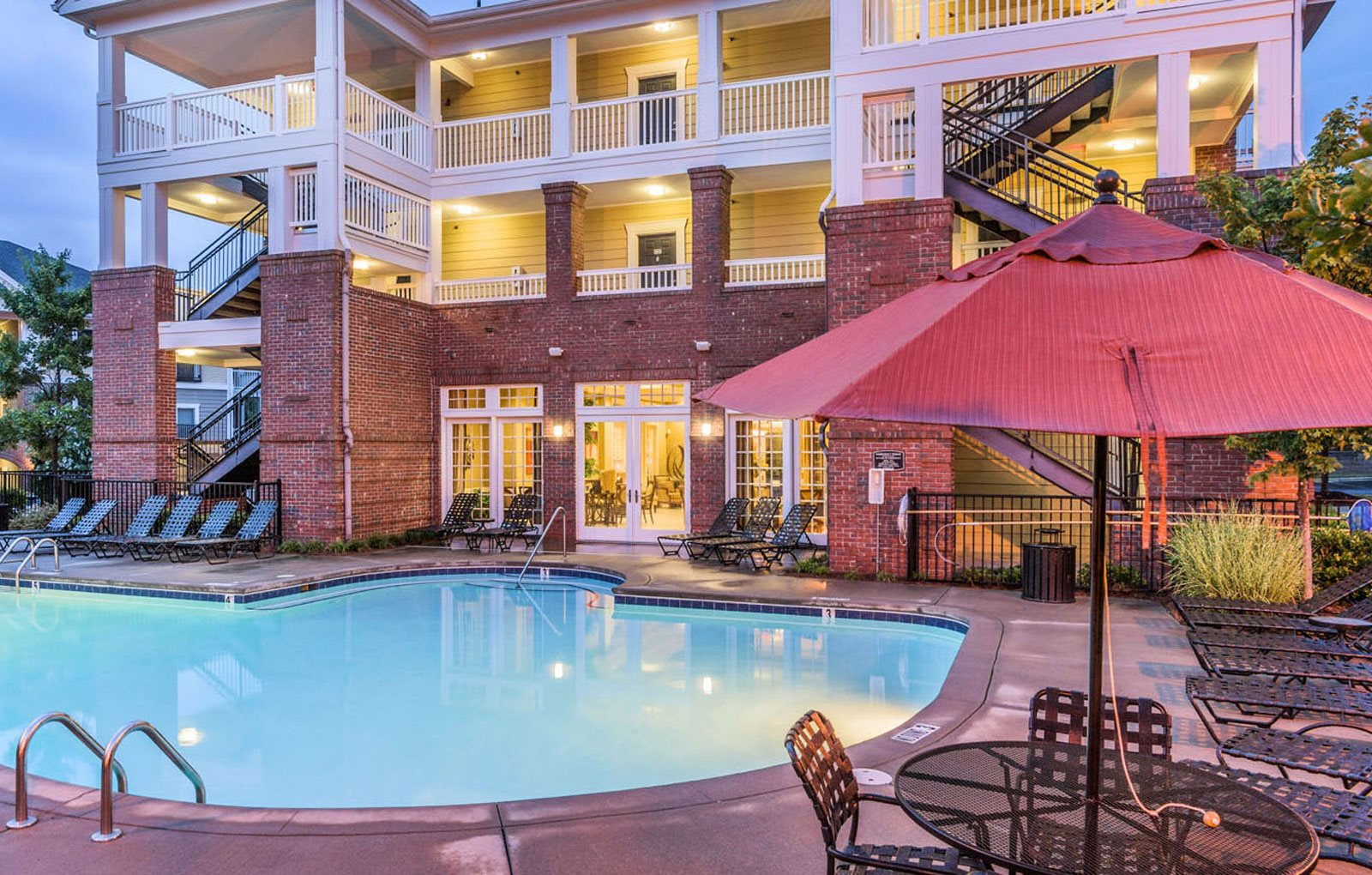 Sparkling pool at Rose Heights apartments, NC, 27613