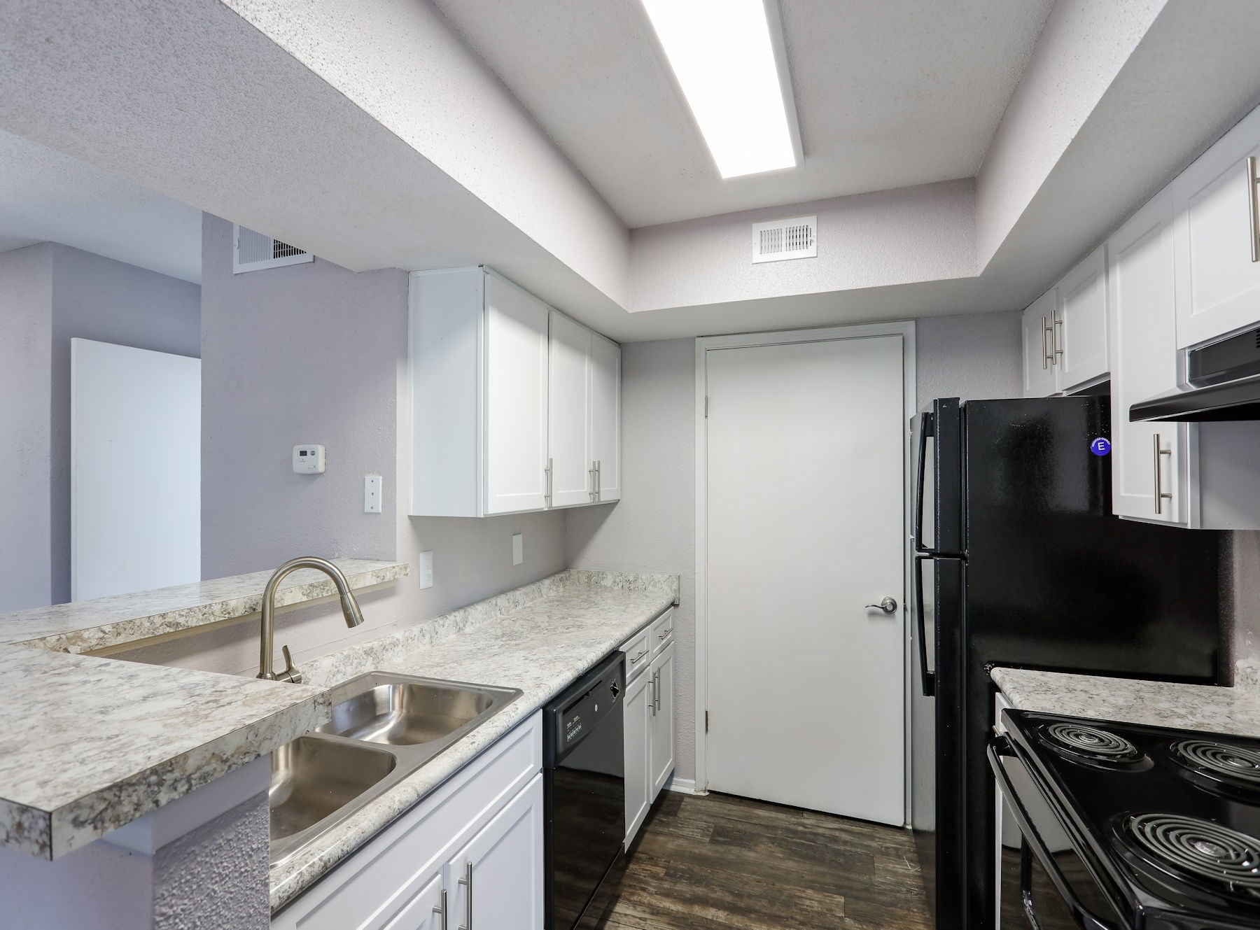 Model Kitchen with Custom Cabinets