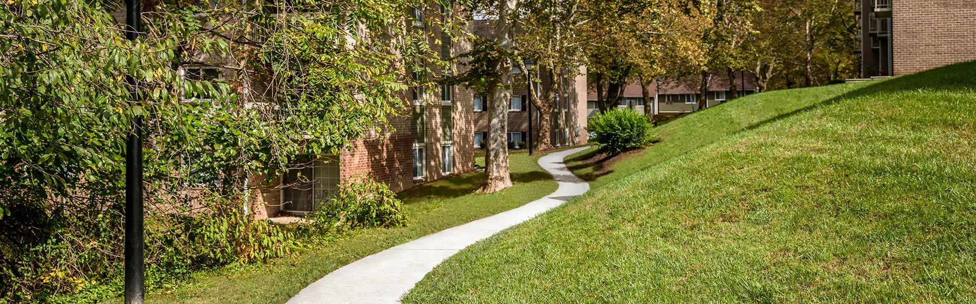 Spacious Lawn Areas with Beautiful Landscaping at The Brook at Columbia, Maryland, 21044