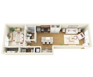 Suitable Floor Plans For Students at The Langston, Cleveland, OH
