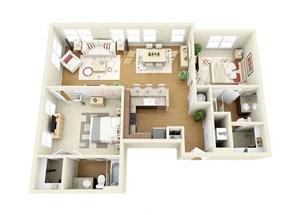 Spacious Floor Plan at The Langston, Ohio, 44114