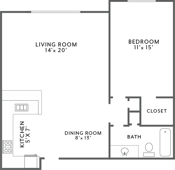 Monor_1Bed1Bath_850 Floor Plan 3