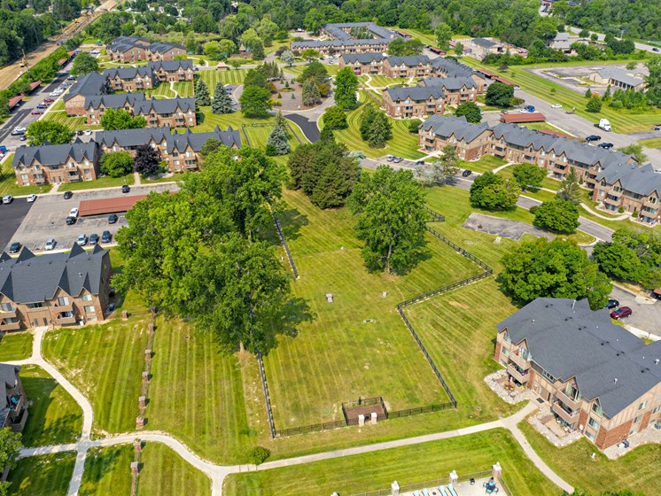 Apartments in Grand Blanc, MI Fenced In Area for Your Dog to Enjoy