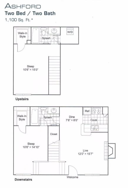 Floor Plan Ashford | The Edison Westchase Houston Apartments in Tx