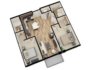 2 Bedroom/2 Bathroom