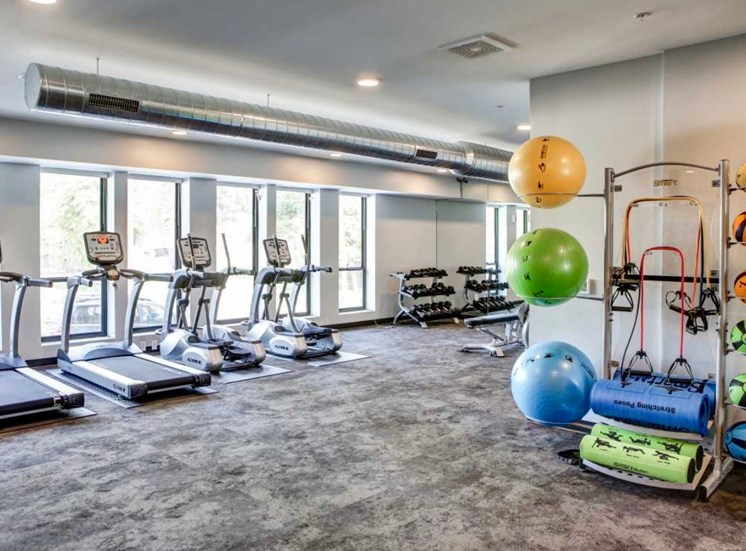 Fitness Center at Soll Apartments Des Moines IA