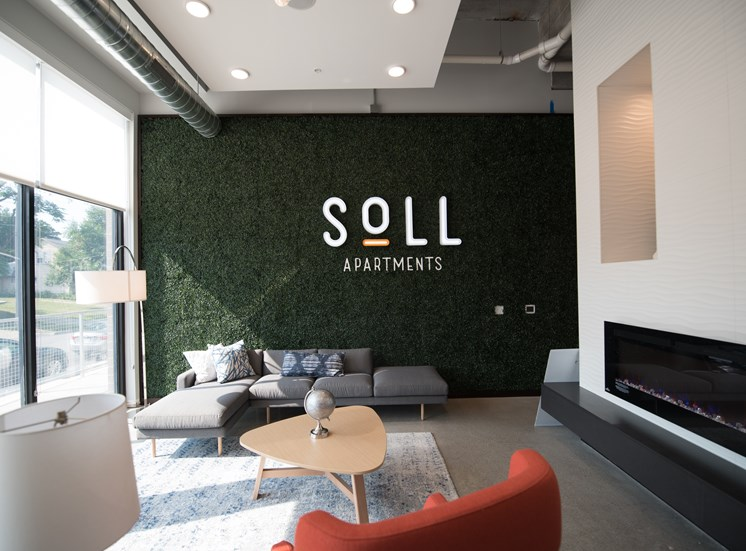Lobby at Soll Apartments Des Moines IA