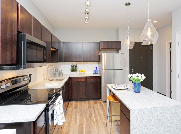 Open Layout Kitchen at Soll Apartments Des Moines IA