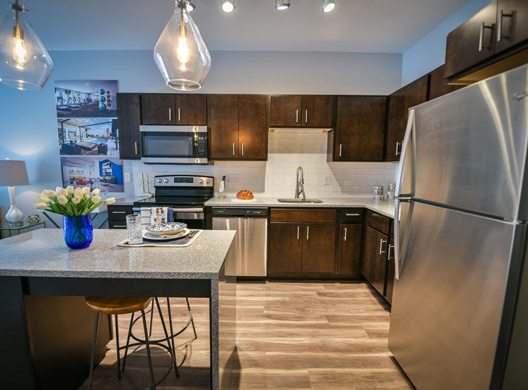 Stainless Steel Appliances at Soll Apartments Des Moines IA